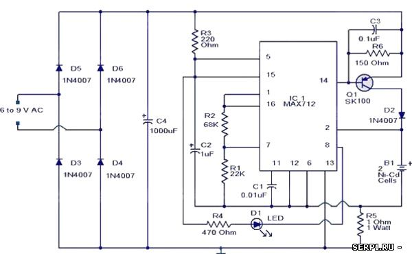 Ni-Cd-Battery-CHarger-Circuit-Schematic