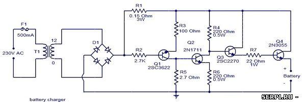 Зарядное устройство к аккумулятору на транзисторах