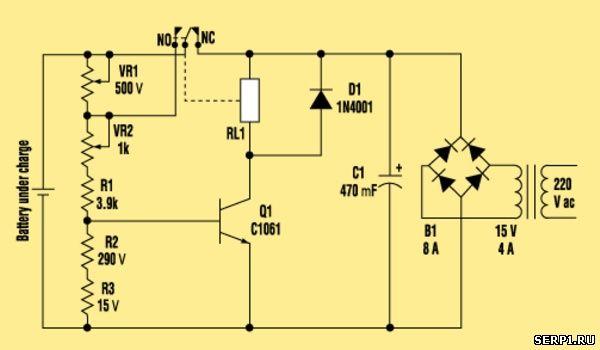 Простые схемы зарядных устройств
